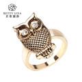 nuevo diseño de oro dedo anular el último 2014 búho anillo de oro