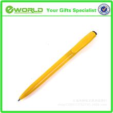 Plastic logo printed spring ballpoint pen