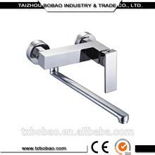Most Popular Square Wall Mount Copper Bathroom Faucet