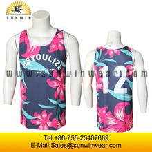 mens custom sports sublimation cheap tank tops