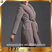 The luxury fox wool winter women coat
