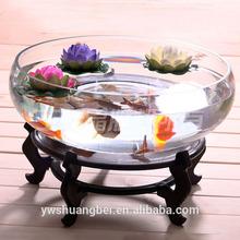 large round glass fish tank, fish bowl, arcylic aquarium