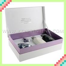 Popular unique design cardboard cosmetic box with EVA inner tray