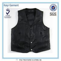 new multi pockets fashion cheap black fishing vest