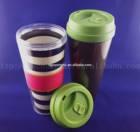 Hot Sale Double Wall Plastic Mug Starbuck Coffee Mug Promotional Mug