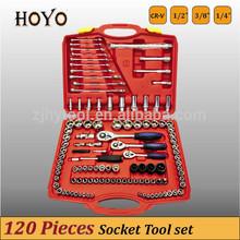 """1/2"""" &3/8"""" &1/4"""" Dr.120PCS Socket Set/High Quality German Standard Socket Set"""