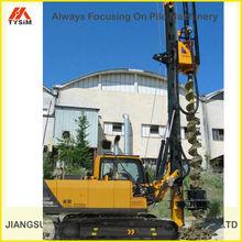 TOP foundation equipment, SOILMEC crawler small/mini CFA rotary drilling rig KR125M