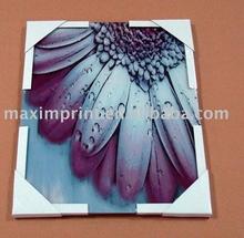 Purple Flower tempered glass Wall Art, Modern flower art printing for home decoration