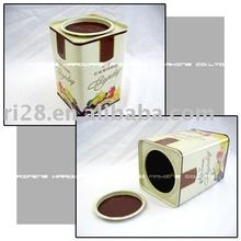 Square shape tin candy box