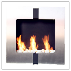Wall mount Alcohol Flueless Fireplace, heater