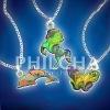 Ocean's Mystique Mood Pendant Necklaces for Children