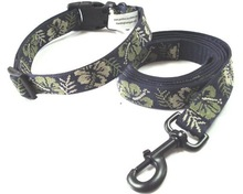 Pet products dog collar & leashes woven webbing adjustable