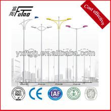 3-12metes galvanized steel street lamp pole