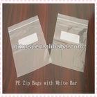 Custom Printed Plastic Ziplock Bags with White Bar for Food Packaging