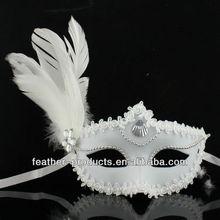 Beautiful feather mask