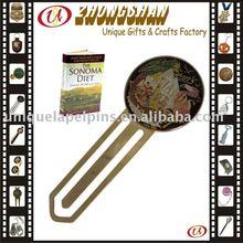 Epoxy domed metal bookmark