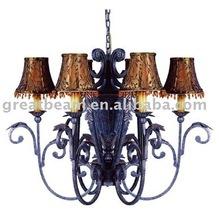 Antique fabric pendant lamp