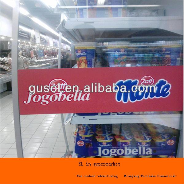 electroluminescence sheet, EL sheet advertisement,EL backlight panel