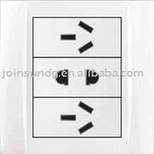 2-feet and 2 3-feet wall plug socket S6C332-10