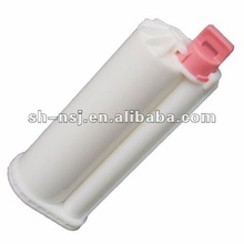 dental cartridge, plastic tube, dual cartridge for 50ml 10:1 dental impression materials