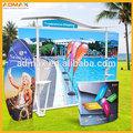 Roll up stand de bannière rétractable battant bannière drapeau de plage pop up stand toile de tente admax signe. tissu d'impression commerciale