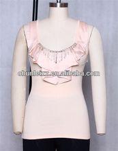 CHUNLEIZZ custom clothes clothing blouse ladies' blouses & tops women's neck design of women apparel back garment   