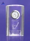 2014 Newest crystal glass desk clock- -NO.1 Crystal Trophy Factory