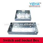 Pre-Galvanized Steel Rectangular Switch Device Box, Electrical Boxes And Covers