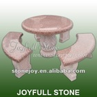 Red Granite Table Set, granite outdoor stone table and chair