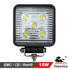 12/24V LED work light 15W, flood/spot beam, for Truck, tractor,trailer, offroad driving for Jeep,suv,atv,motorcycle,4X4car,IP67