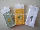 100% cotton tea towels with embroidery