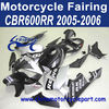 Fairings kit for HONDA CBR600 CBR600RR 05 06 2005 2006 SILVER AND MATT BLACK REPSOL