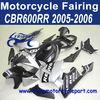 Fairings kit for HONDA CBR600 CBR600RR 05 06 2005 2006 SILVER AND MATT BLACK REPSOL