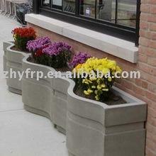 Fiberglass outdoor wall planters modern outdoor planters