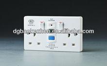 0230SPW RCD waterproof switch,BS Standard