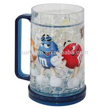Plastic Ice Mug,Beer Tumbler,freezer gel mug