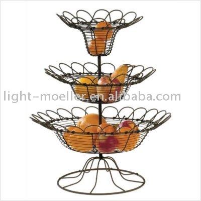 Forjado de hierro cesta de frutas almacenamiento y estabilidad identificaci n - Corbeille a fruits casa ...