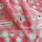 100% Polyester Fashion Flower Design Flannel Velevt Fabric Super Soft Fleece Blanket Fabric