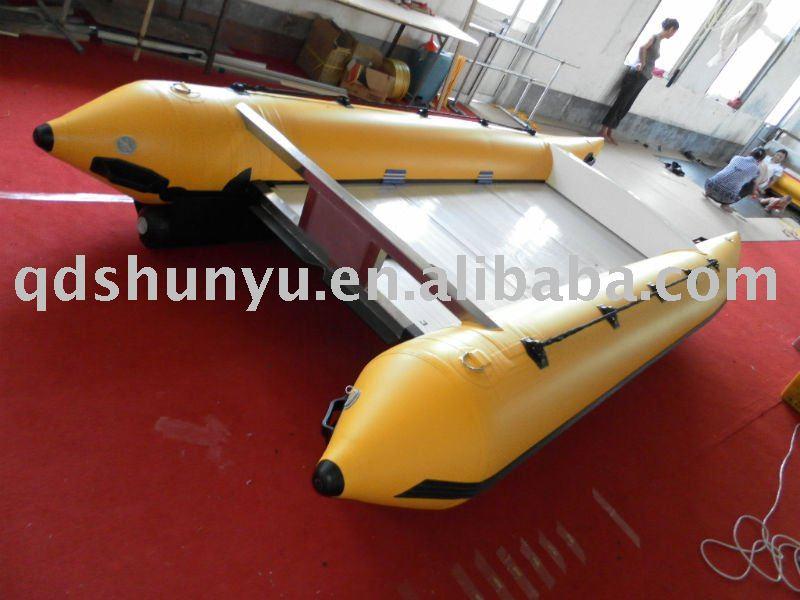 Ce pvc mat riau 4 3 m 6 personnes gonflable zapcat bateau vendre bateau - Bateau gonflable 4 personnes ...
