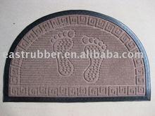 popular stain resistant/anti-slip rubber door mat