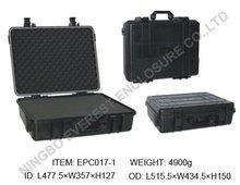 Safety waterproof equipment case with inside foam