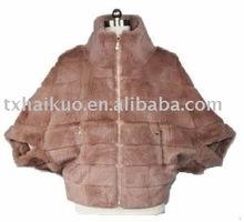 ladies rabbit fur coat with Elegant Classical Style