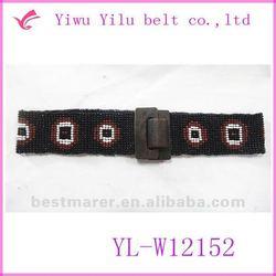 2012 lady fashionable stretch beaded belt