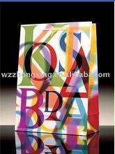 colorful printing paper bag/gife bag with logo
