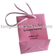 waterproof custom pink fashion jewelry paper bag PBG-040