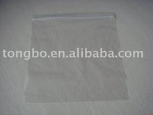 2015 Popular custom transparent pe bag with zipper