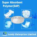 Súper polímero absorbente de agua para del pañal del bebé