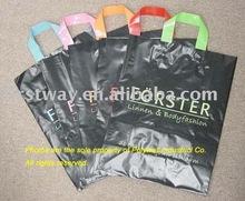 Plastic colour loop shopping bag