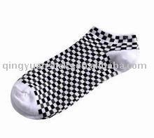 Grid Cotton Ankle Socks