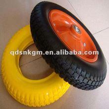 "PU wheelbarrow solid foam wheel 13""x3.25-8"
